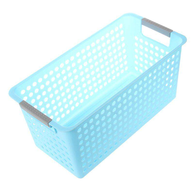 Japanese-Style Stackable Plastic Storage Baskets/bins Organizer Fruit Toys Clothes Glove Box Debris Storage Basket (blue)l:31*21.5*17cm By Fastour.