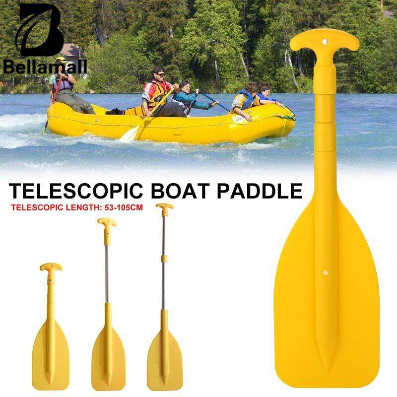 Bellamall Yellow Boat Paddle Telescopic Paddle Telescopic Compact Boat Durable By Bellamall.