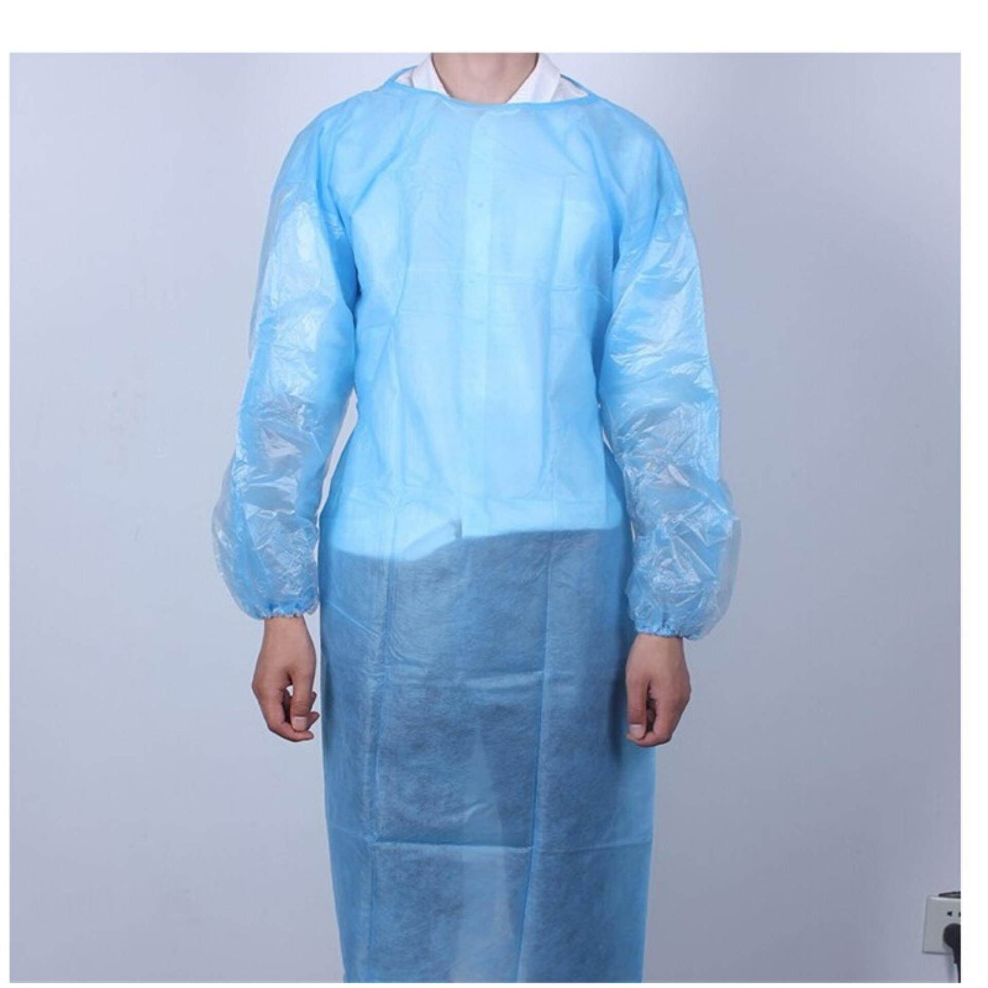 Disposable Medical Clean Laboratory Isolation Cover Gown Surgical Clothes Blue