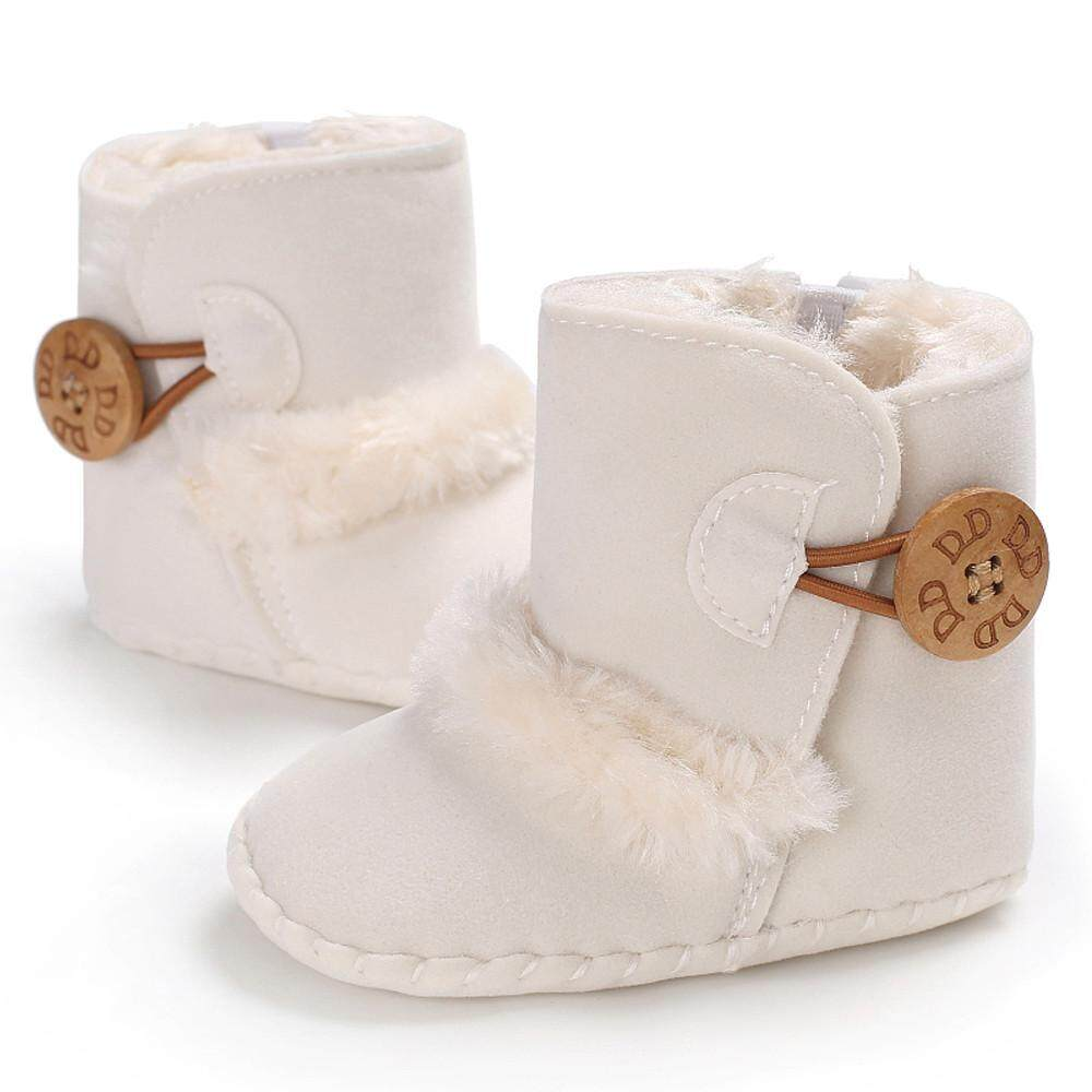 c20ad8d861462 Cute Boy Girls Baby Soft Sole Snow Boots Soft Crib Shoes Toddler Boots