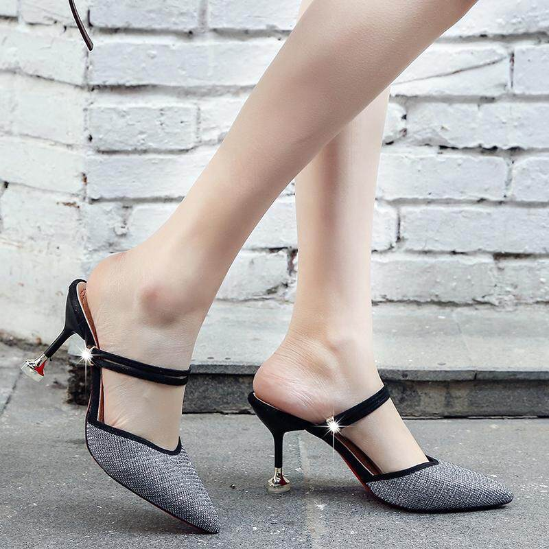 d5ff72a8a7e 2018 Brand Non-slip Comfortable Casual Elegant Heels Sequin Ornament Peep  Toe Summer Women s Shoes