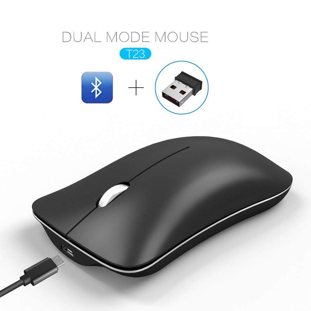 Teepao USB 2.4 G + Bluetooth Dual Mode Wireless Mouse, Ultra-thin Mini Silent Wireless Optical Mouse With1600 DPI Malaysia