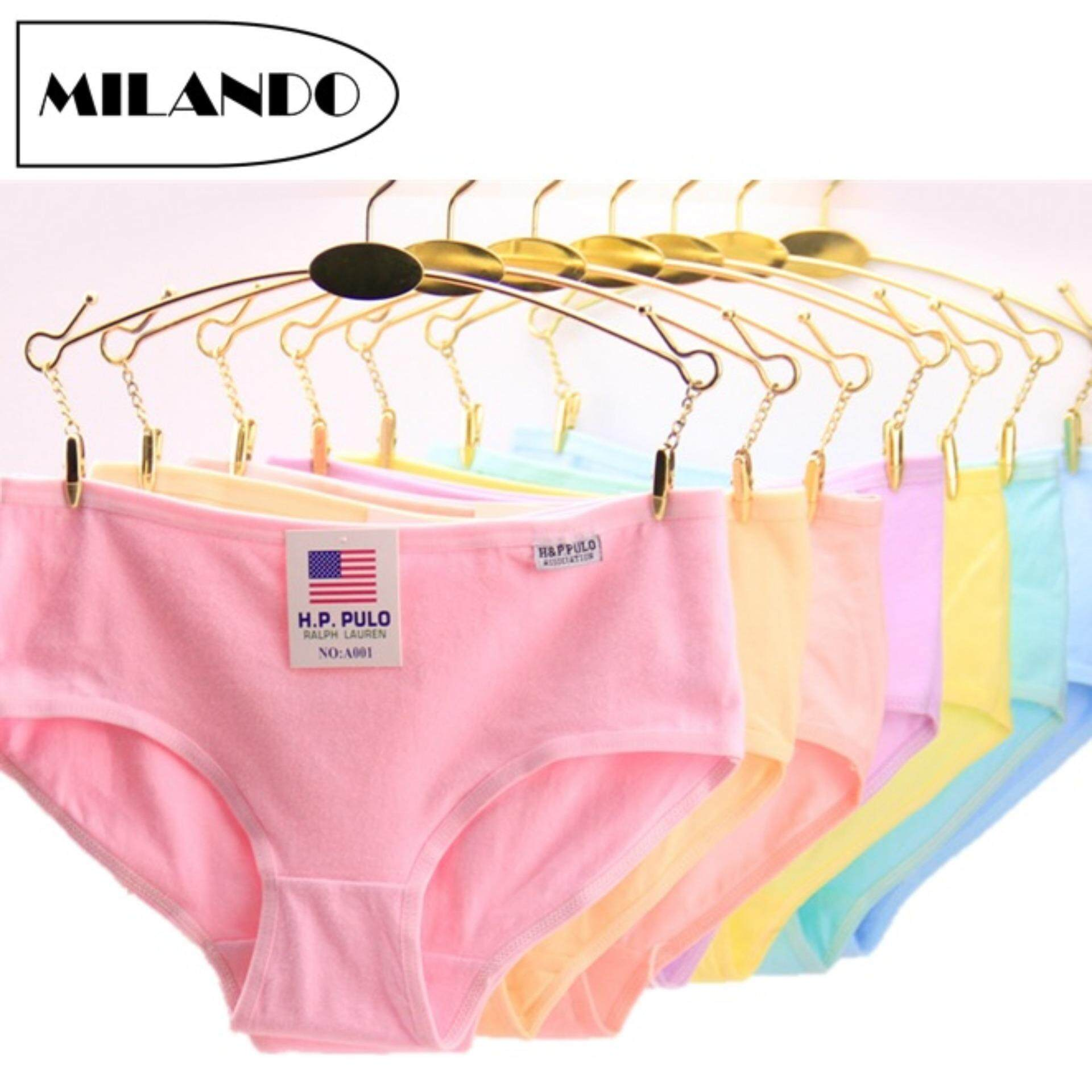 d6d653f12fd (6 Pieces) MILANDO Ladies Women Underwear Cotton Bikini Panties Seluar  Dalam Wanita (Type
