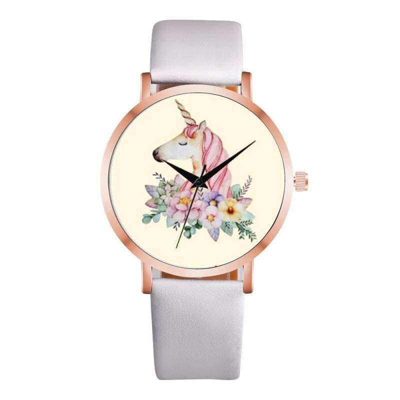 Versea Unicorn Watch Deco Leather Casual Simple Quartz Wrist Watch Xmas Gifts Kids Hot Malaysia