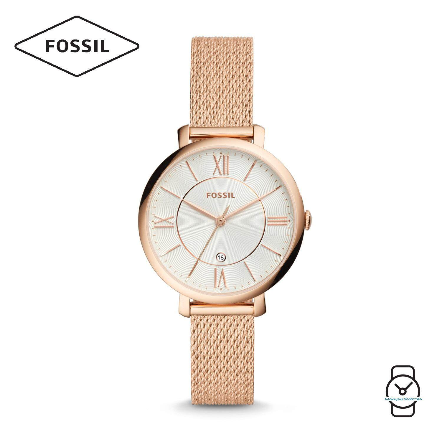 Fossil Tailor Es3913 Jam Tangan Wanita Multifunction Leather Grey Cecile Sand Watch Am 4532 Women Es4352 Jacqueline Three Hand Stainless Steel Rose Gold