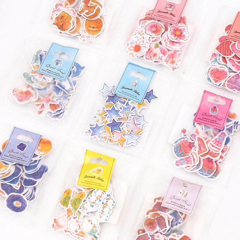 70 Pcs/lot(1 Bag) Diy Cute Kawaii Romantic Heart Star Crafts And Scrapbooking Sticker For Decoration Student 552 By New360.