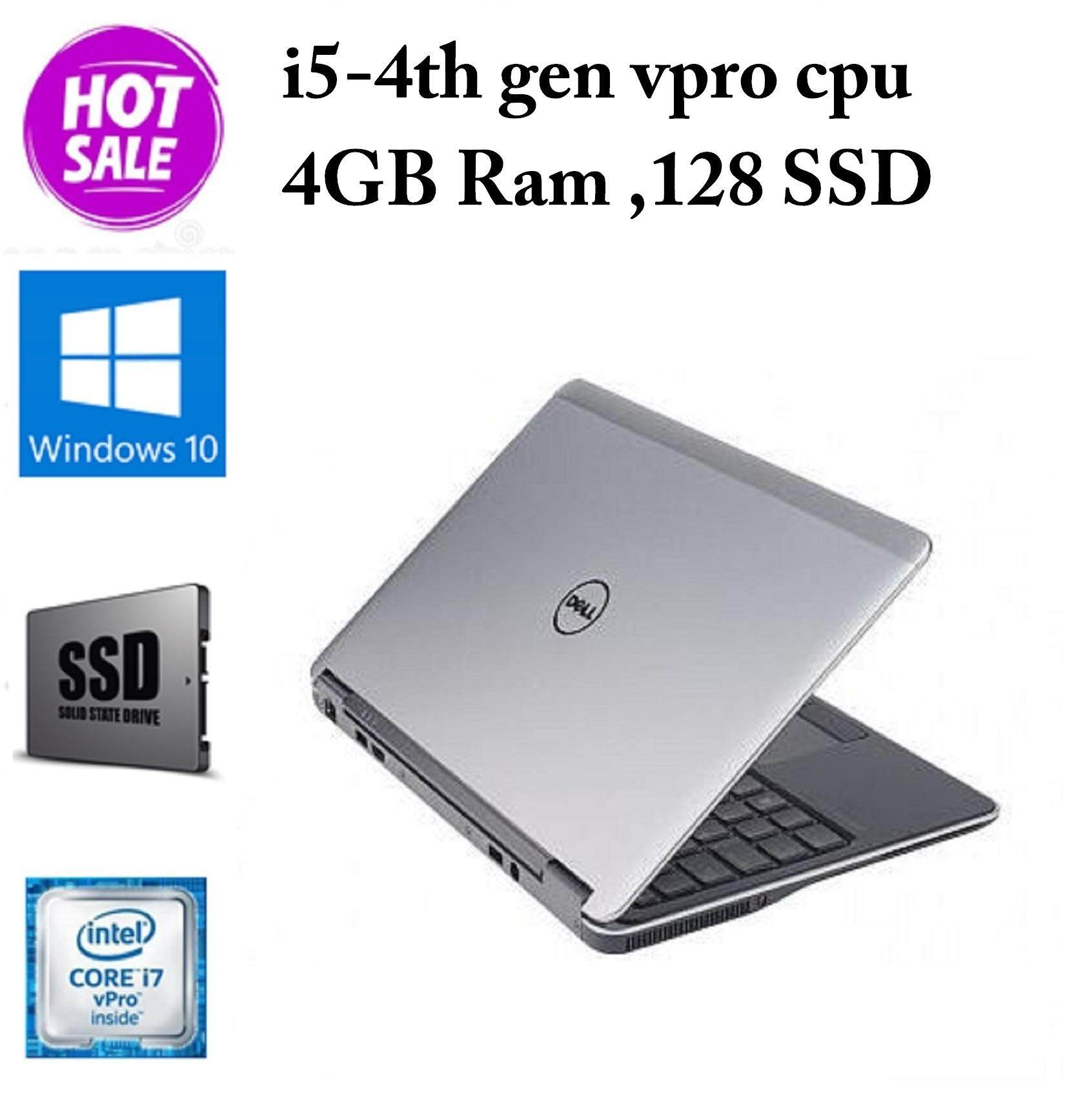 Dell Latitude Ultrabook E7240 - Core i5-4th Gen - 4 GB RAM - 128 GB SSD - 12.5-inch - (Imported) Malaysia