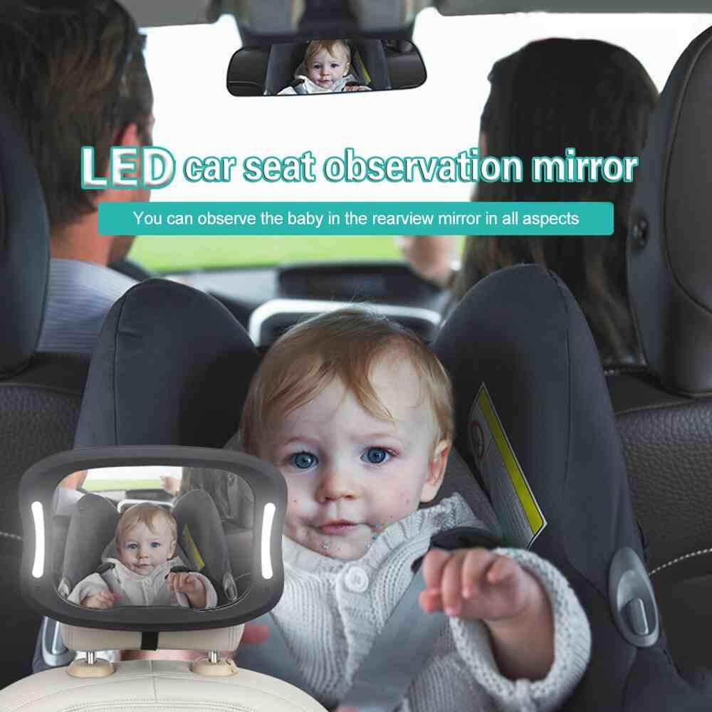 LJAN Baby Mirror Crystal Clear Car Wide Rear View Facing Back Seat For Child Toddler