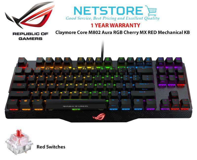 ASUS ROG Claymore Core M802 Aura RGB Cherry MX RED / BLUE Mechanical Keyboard Malaysia