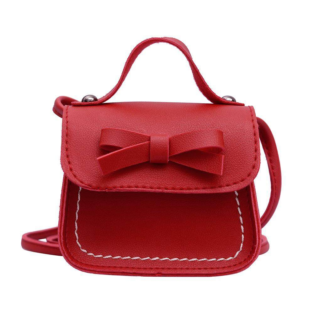 Kids Girls Cute Bowknot Handbags Pu Leather Shoulder Mini Crossbody Clutch By Mireille.