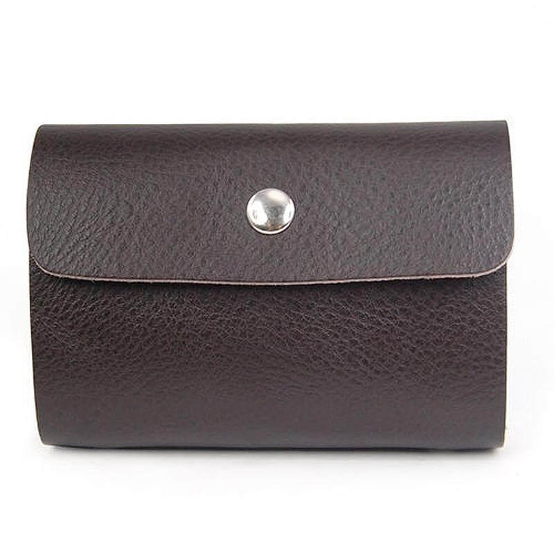 60bbc7c8d24b Premium Leather Wallets Credit Card Holder ID Business Case Purse Men Women  - brown