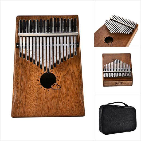 Muspor 17 Key Kalimba Mbira African Mahogany Thumb Piano Finger Musical Instrument with Bag Malaysia