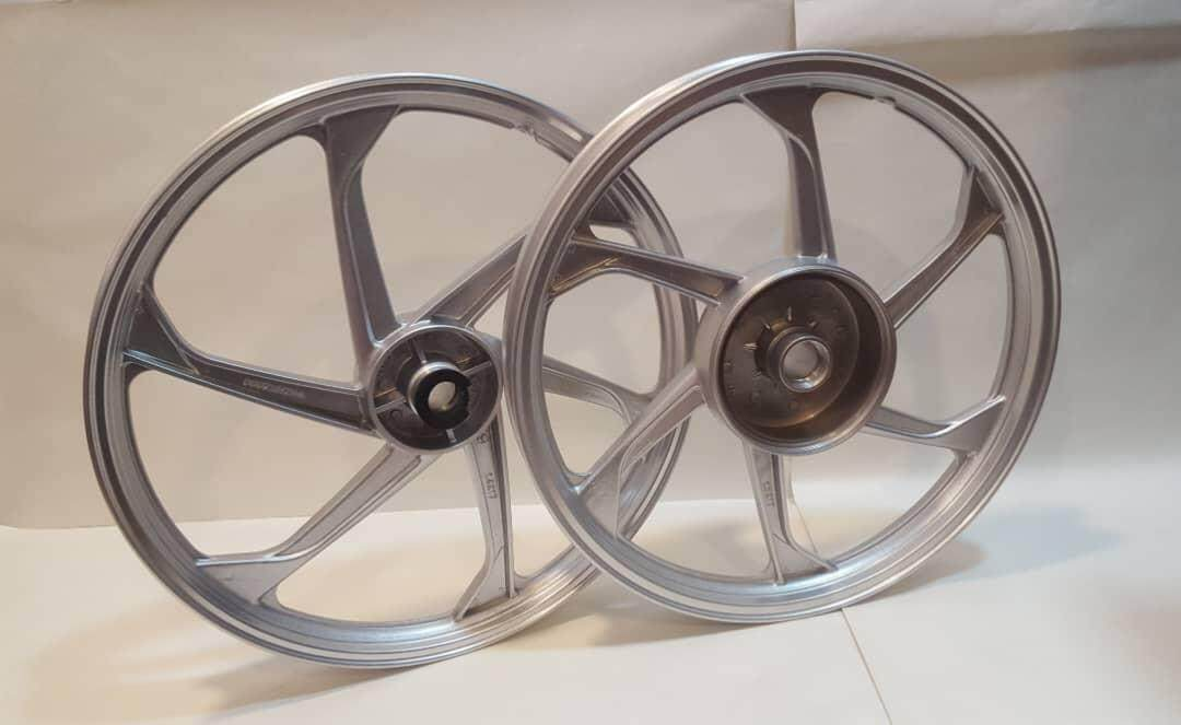 666 Sport Rim • Yamaha Lc135 (silver) By K.k Motorspareparts.