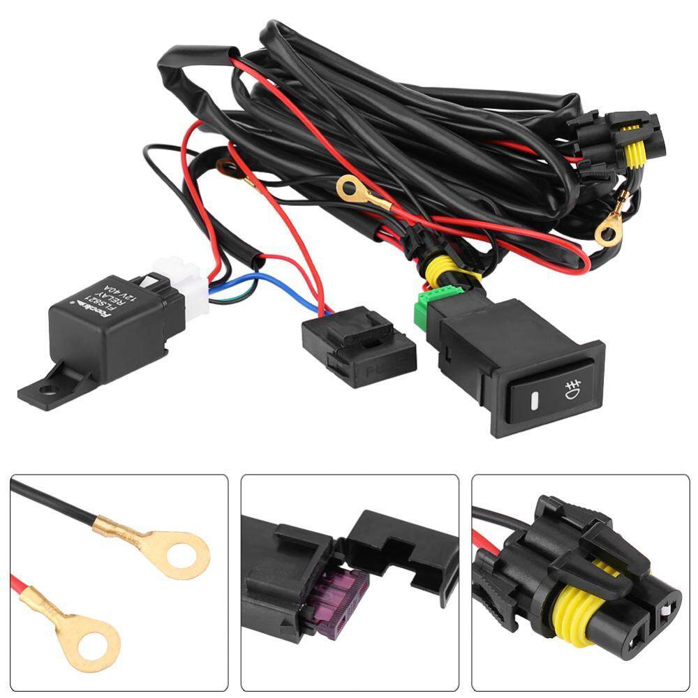 Malaysia Best Buy 40a 13 10 18 Wiring Harness 12v Universal Car Led Fog Light On Off Switch Fuse Relay Kit