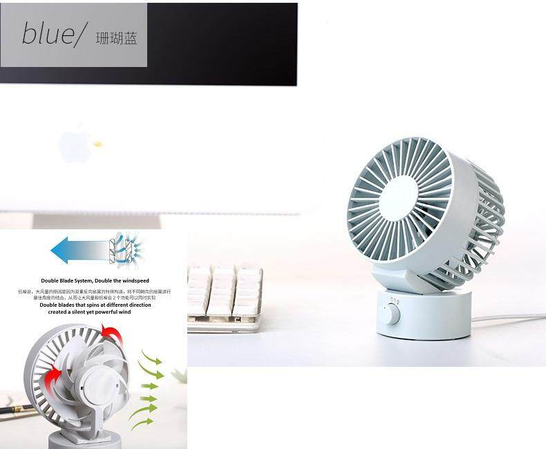 HIGH SPEED Desk Fan Tiltable 2-Speed Mini USB MUJI Alike(4 colors) Malaysia