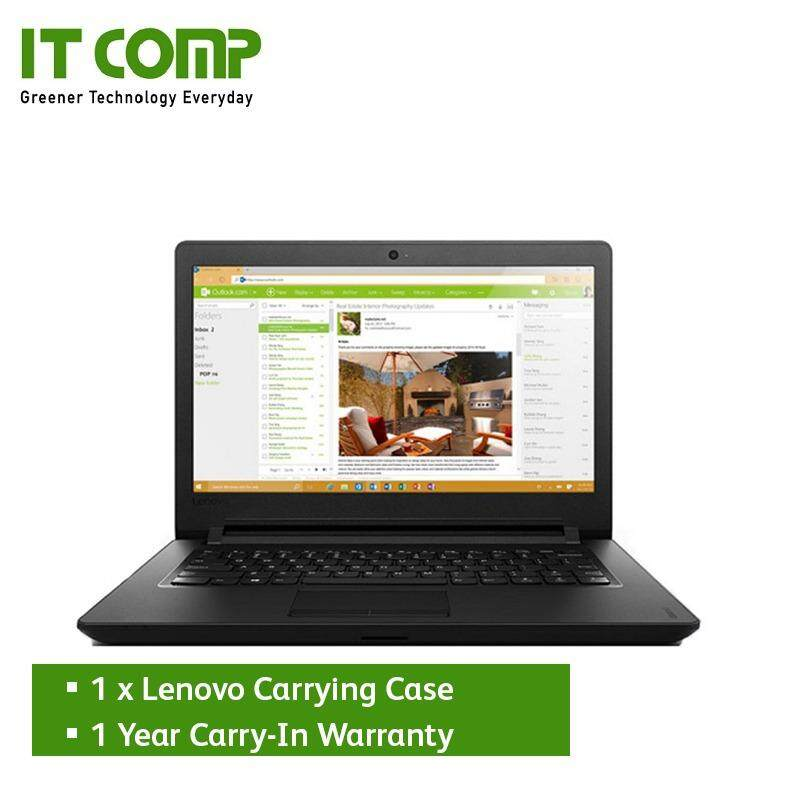 Lenovo Ideapad 110-14IBR (80T6009TMJ) 14 Black (Pentium N3710/4GB/500GB/W10H) + Free Carrying Case Malaysia