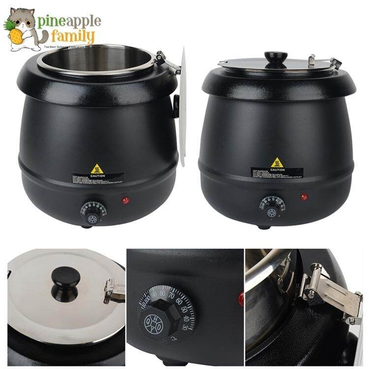 Commercial Electric Soup Kettle Warmer 10 Liter (black) By Pineapple Family.
