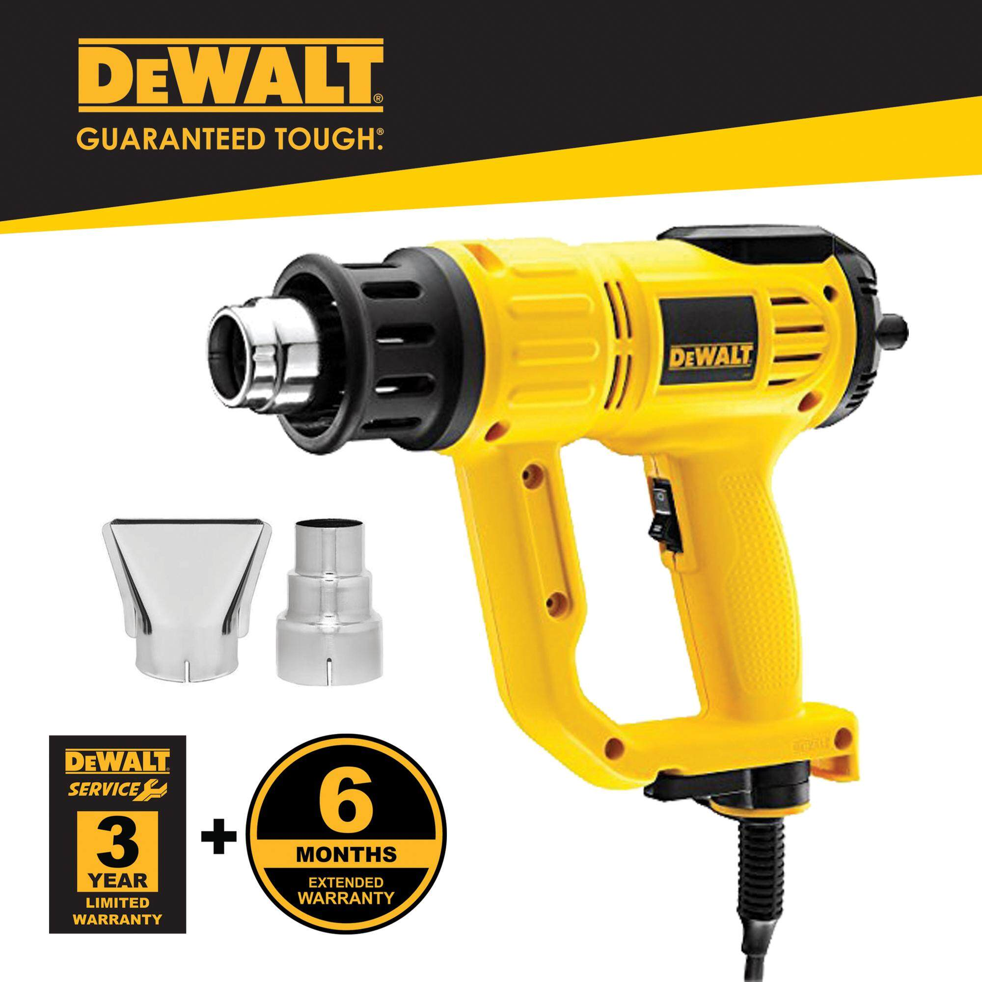 Dewalt D26414-B1 2000W 50 - 630°C Digital Heat Gun With 2pcs Standard Nozzle ( D26414 )