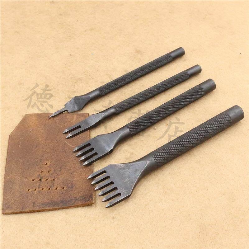 4mm 1/2/4/6 Prong DIY Lacing Stitching Chisel Set Leather Craft Kits,Stitching Punch Tool Set
