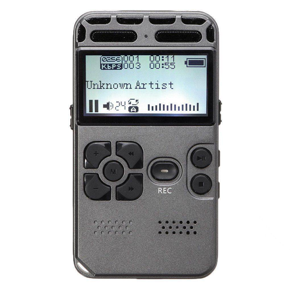 64G Rechargeable LCD Digital Audio Sound Voice Recorder dictaphone MP3 Player Malaysia