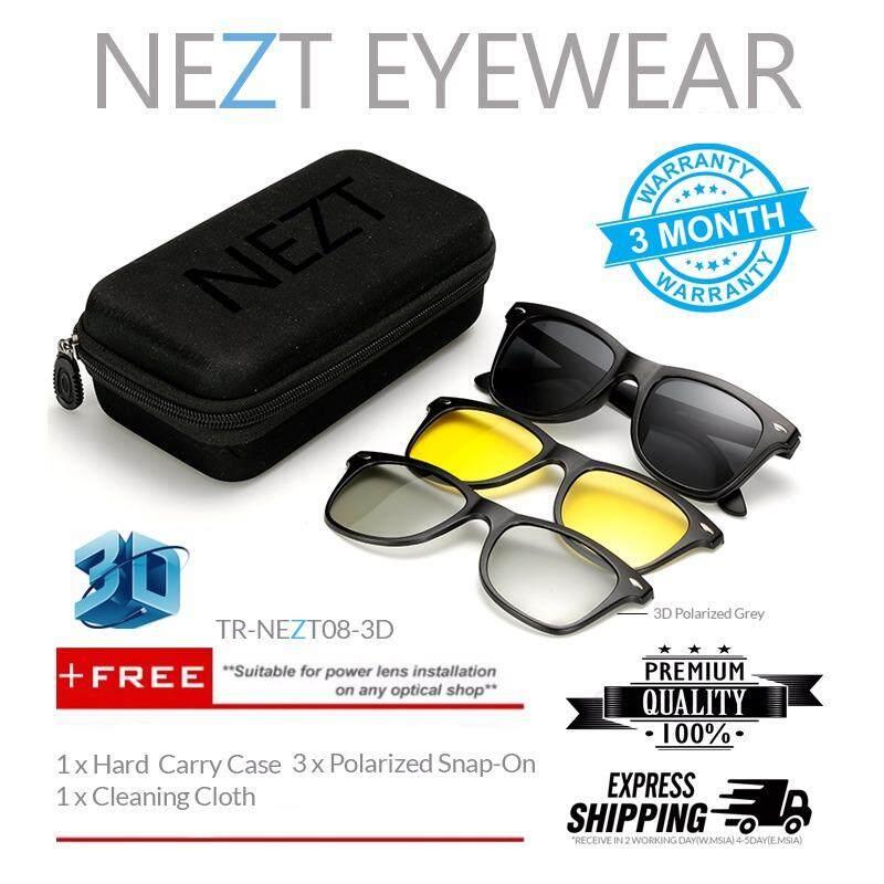 4 In 1 Nezt 3d Tr-Frame Snap-On Magnetic Eyeglasses Sunglasses By Nezt Marketing.