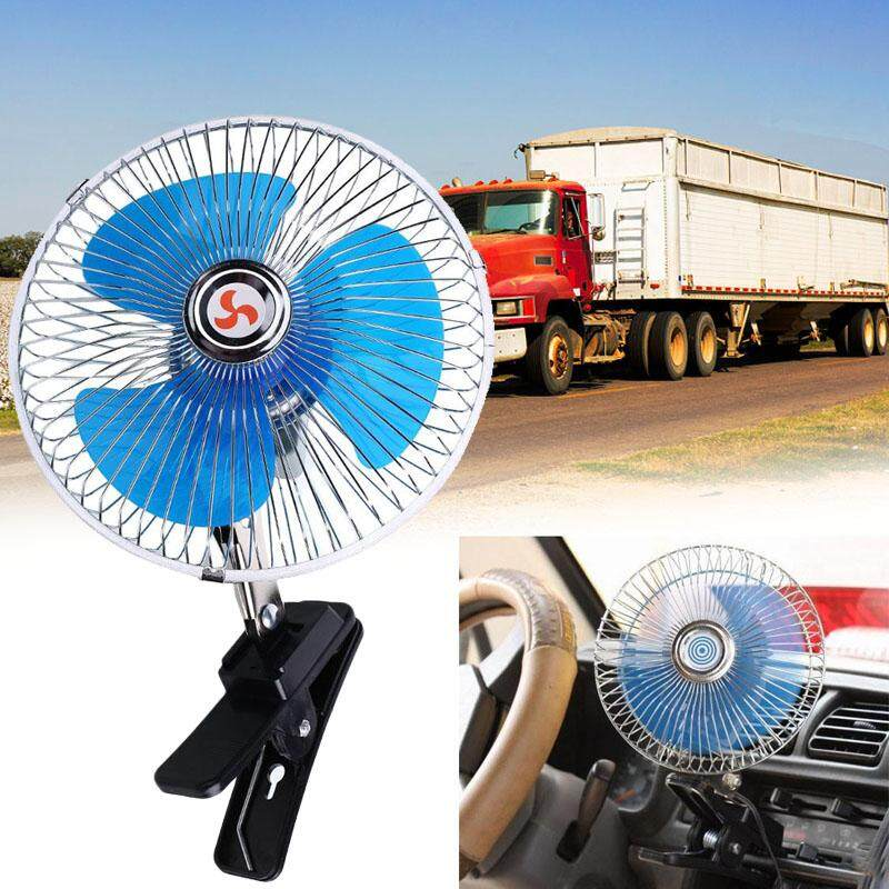 12v/24v Portable Car Interior Dashboard Mini Clip Cooler Oscillating Fan By Miryo.