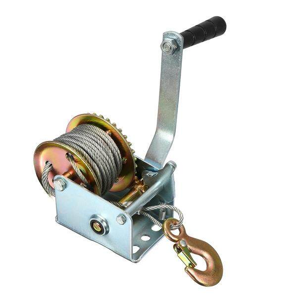 600lbs Manual Hand Winch + 10M Caravan Strap Length Marine Pull Boat Trailer