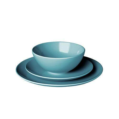 Ikea Fargrik 18 Piece Service Turquoise