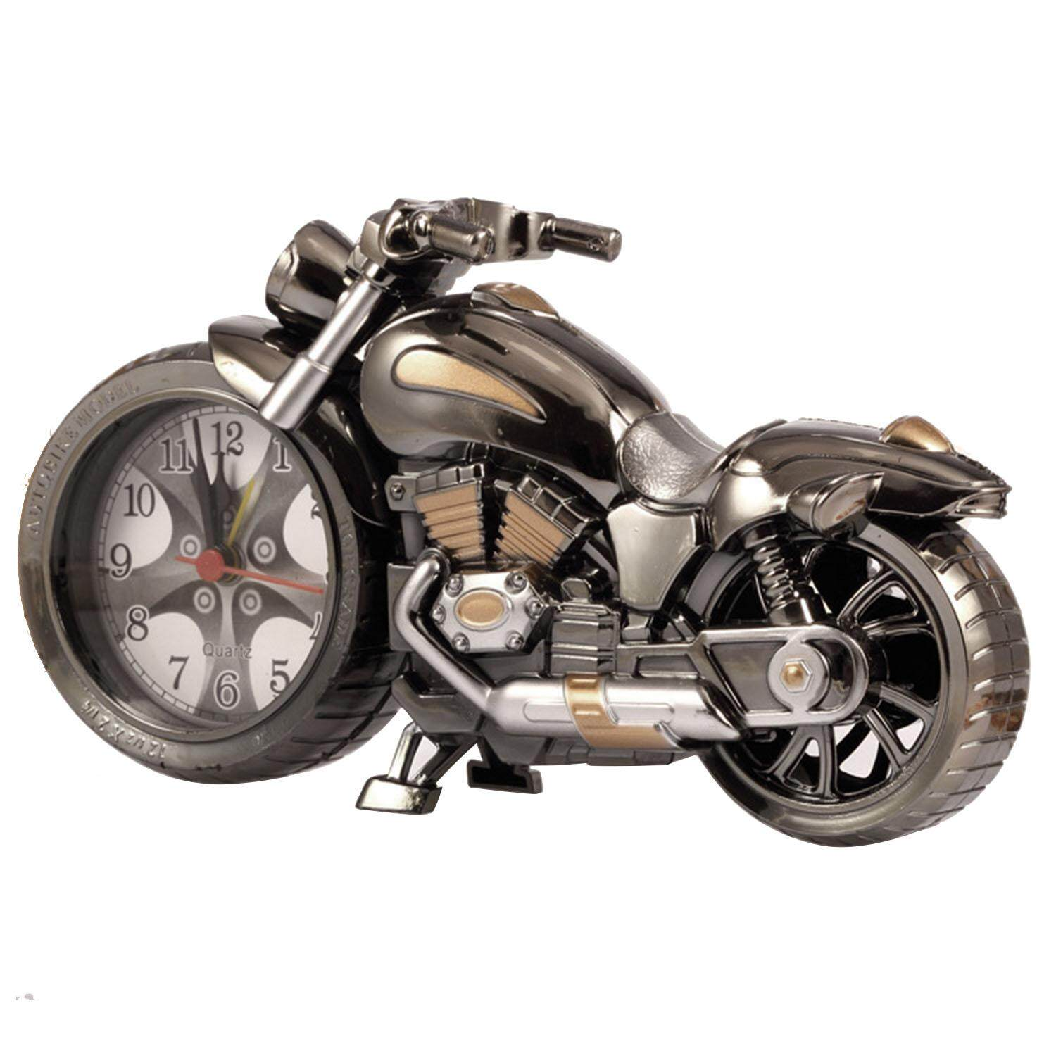 Vintage Retro Motorcycle Style Students Alarm Clock Table Desk Time Clock Cool Motorbike Model Home Office Shelf Decoration By Duha.