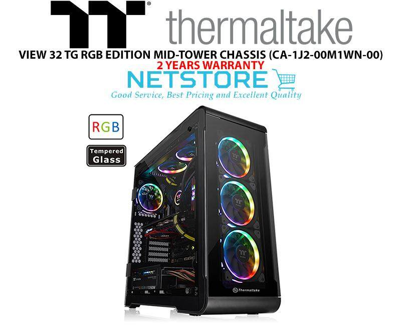 Thermaltake View 32 TG RGB Tempered Glass ATX Mid Tower Casing CA-1J2-00M1WN-00 Malaysia