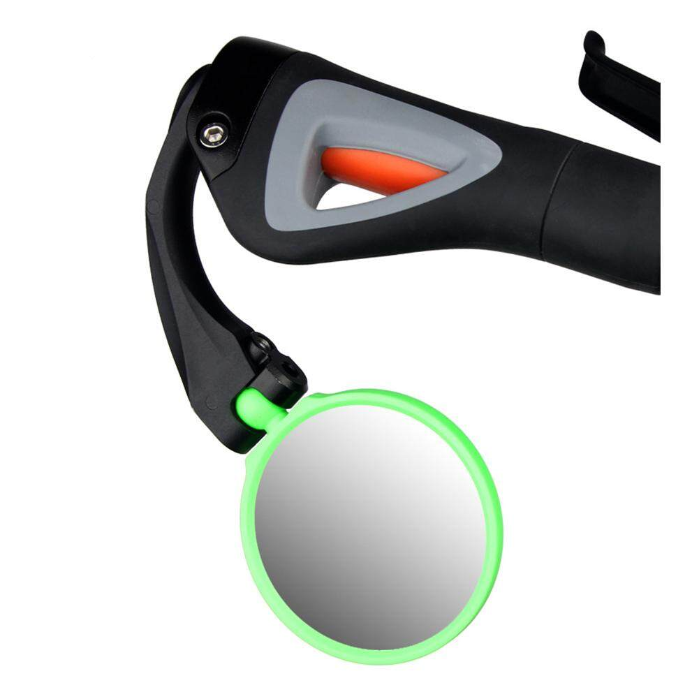 Supermall Adjustable Bicycle Rearview Mirror Mountain Bike Reflector Lens Stainless Steel Mirror Outdoor Equipment By Super Star Mall.