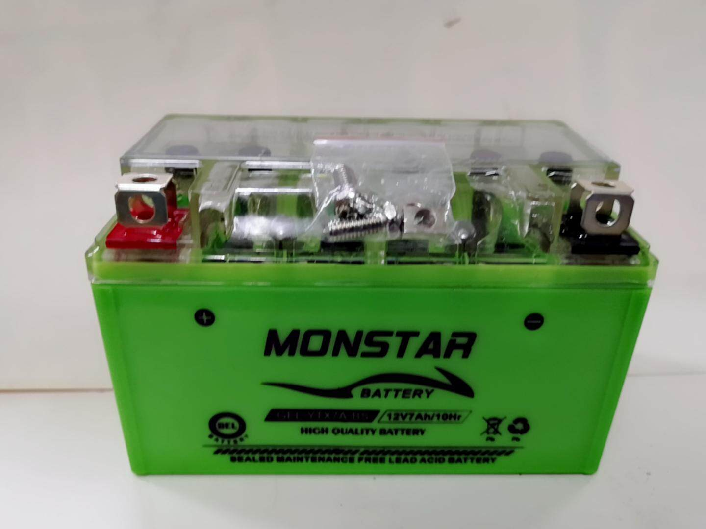 Monstar Ytx7abs Nano Gel Maintenance Free Motorcycle Battery By Excellents.