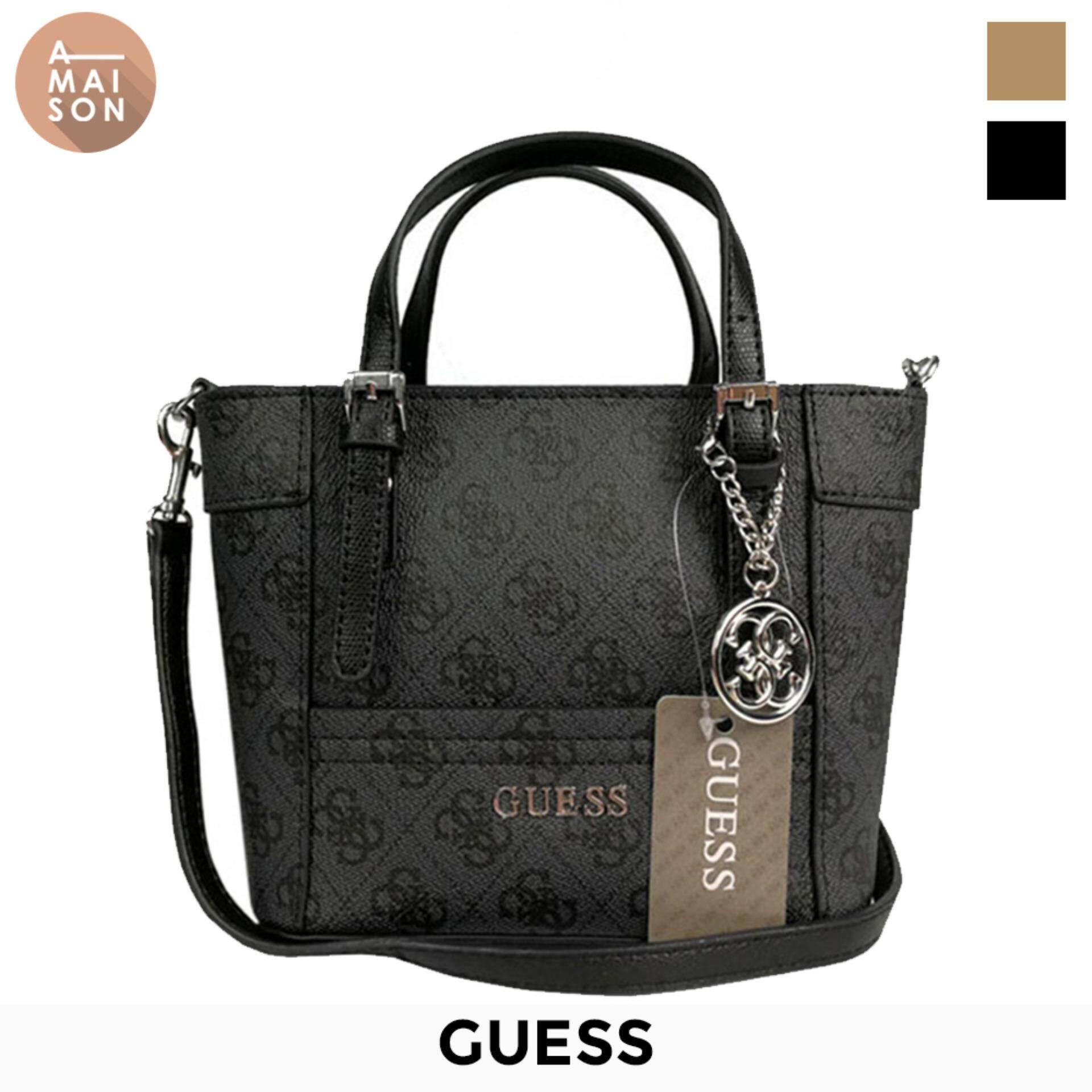 Authentic Guess Imported Delaney Logo Pattern Pee Mini Crossbody Handbag Messenger Sling Shoulder Bag