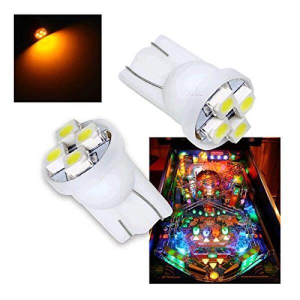 Pa 10pcs 555 T10 4smd Led Pinball Machine Light Bulb Yellow(orange/amber)-6.3v By Buyhole.