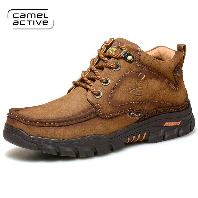 low priced a4ebb 89a30 ST.WIN Outdoor Shoes Camel Active Winter Male Boots plus Velvet High  Cotton-padded Shoes Anti-slip Warm Short Boots Hiking Boots