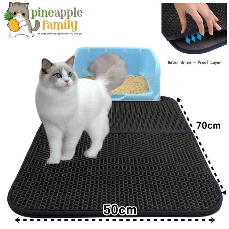 Cat Litter Mat Honeycomb Super Size Rectangular 55*70cm With Waterproof Base Layer By Pineapple Family.
