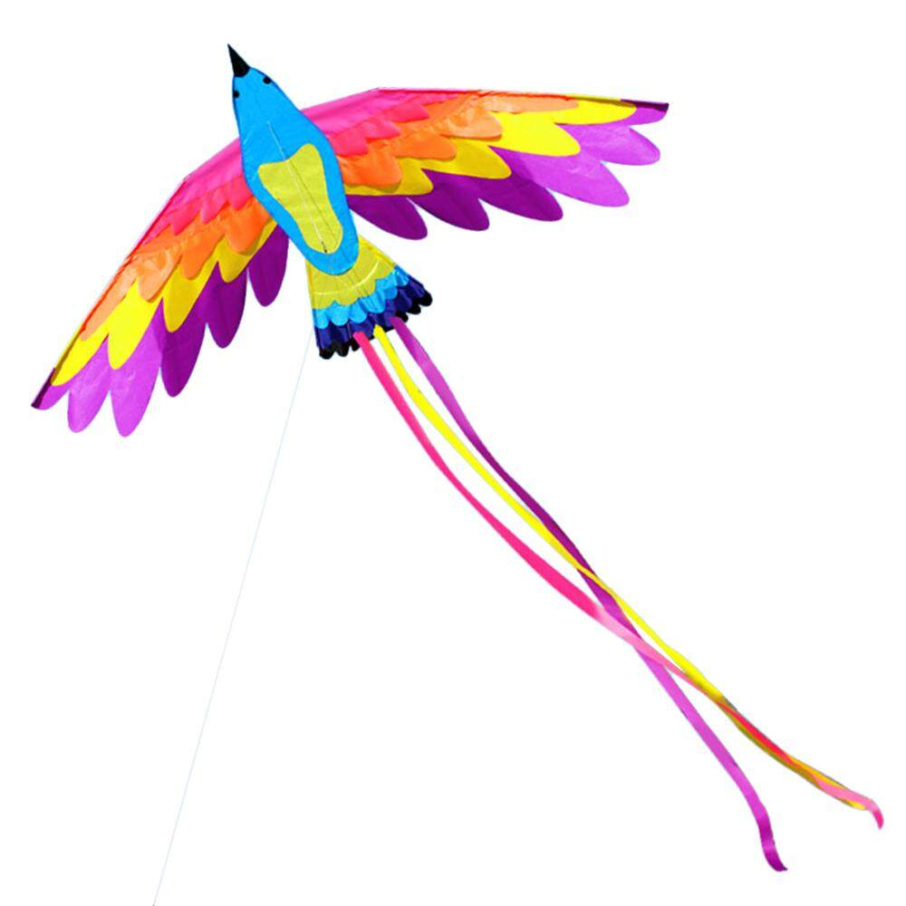 180 * 90cm Colorful Single Line Phoenix Kite For Kids And Adults Outdoor Beach Flying Kite With String And Handle By Tomtop.