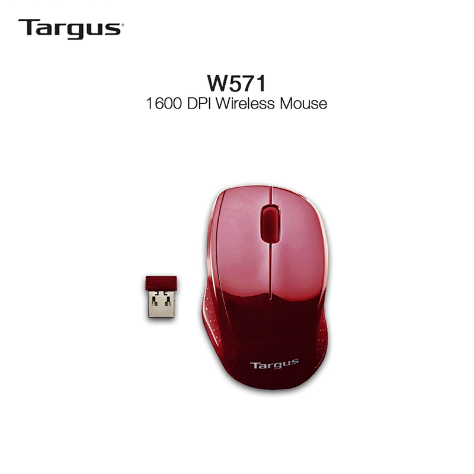 Targus 2.4GHz Wireless Optical Mouse For Notebook & Desktop - AMW571 (Red) Malaysia