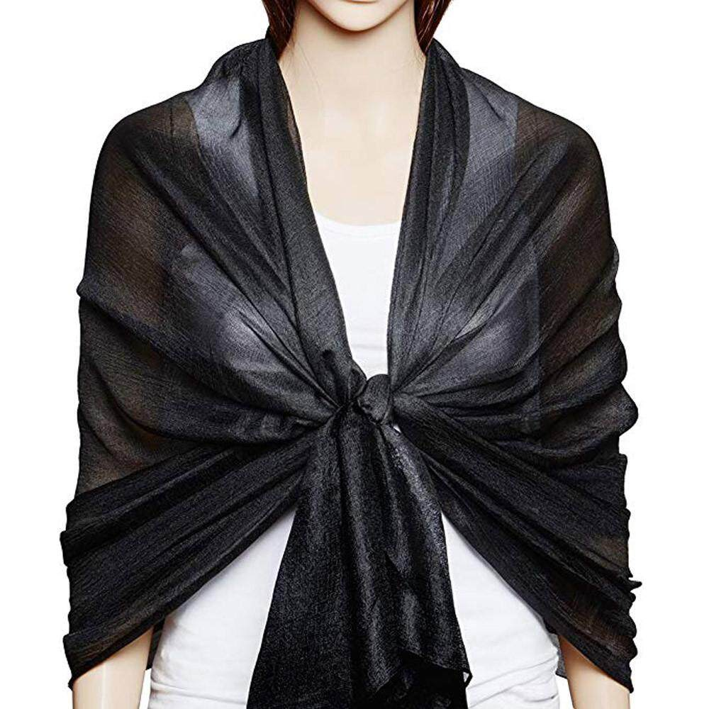 84bcc46f7de23 Women Xmas Gift Large Solid Soft Silky Bridal Evening Wedding Scarf Shawl  Wrap