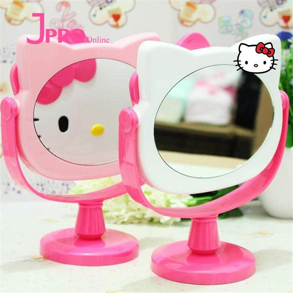 Hello Kitty Cartoon Princess Desktop Make Up Mirror