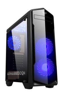 Casing Armageddon T5x Intel Xeon E5450 3.0ghz Gaming Cpu (8GB RAM, GTX750ti 2GB, 1TB HDD)