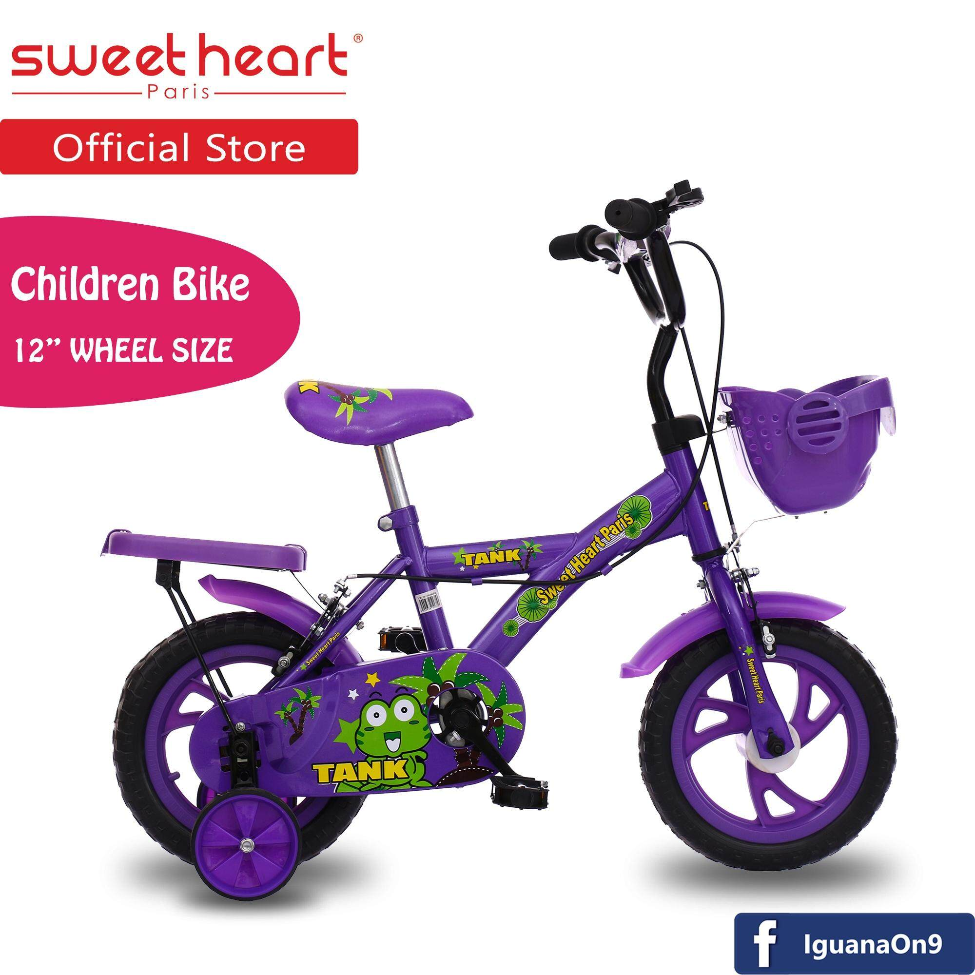 Sweet Heart Paris CB1201 TANK Children Bicycle (New Purple) For Children Age 2 To 4 Years