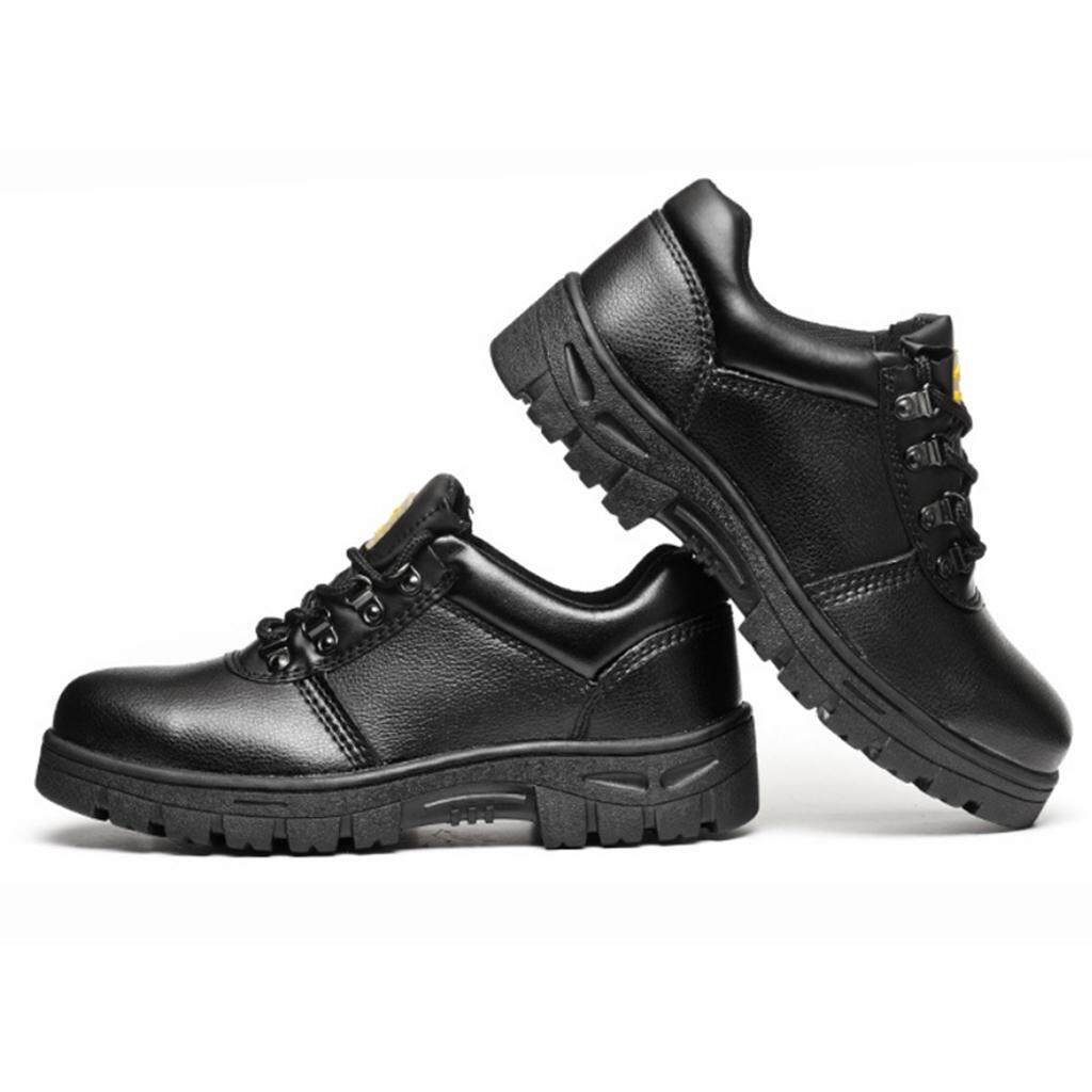 Miracle Shining Safety Work Boots Protective Shoes Steel Toe Water Resistant Slip on Boot US 7.5
