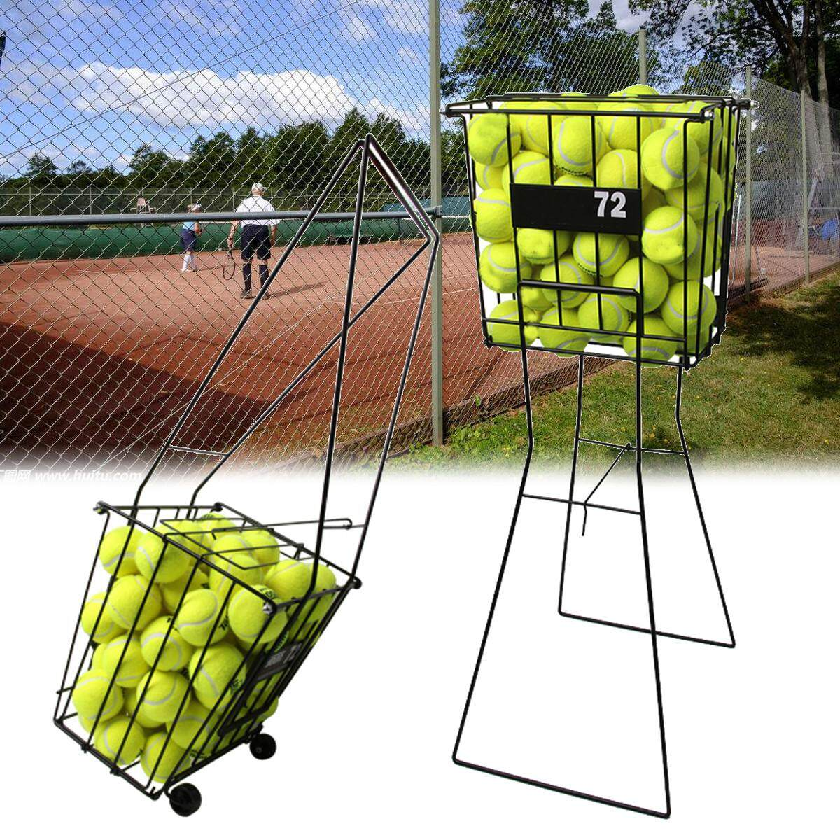 Tennis Sport Ball Pick Up Hopper Basket Portable Stand Storage Equipment By Glimmer.
