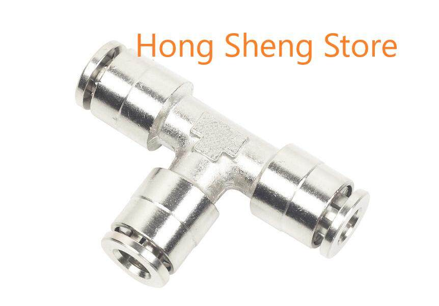 BPE 6mm x 6mm Push In Tee Pneumatic Air One Touch Quick Fitting