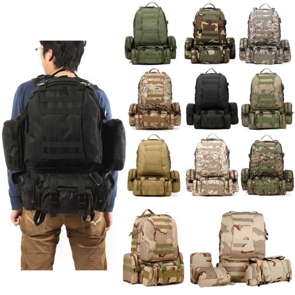 ... 50L Tactical Outdoor Molle Assault Military Rucksacks Backpack Camping  bag. Product Features  100% Brand new and High quality. The Backpack is ... e507762f92228