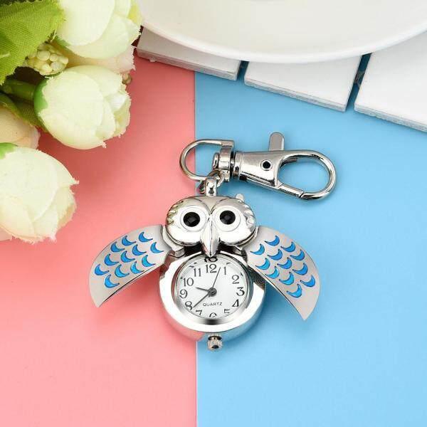 Fashion Gorgeous Owl Watch Clip Pocket Keychain Waterproof Malaysia
