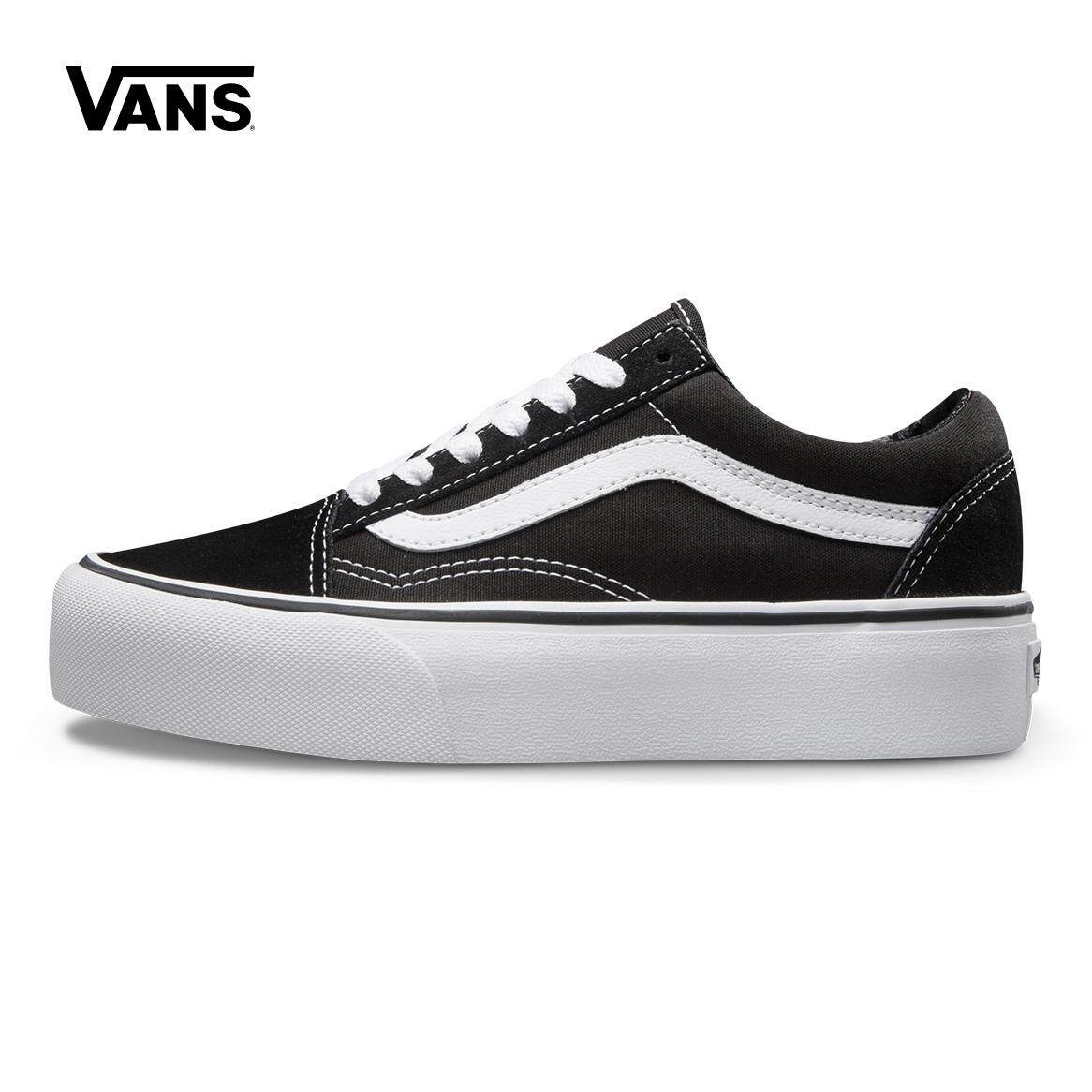 Vans Women s Shoes Leisure Skateboard Shoes Platform CLASSIC BLACK WHITE  Muffin Platform Shoes VN0A3B3UY28 cb039f1769