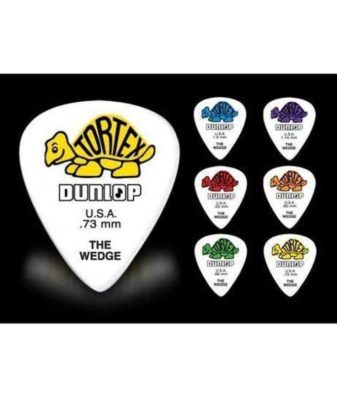 Jim Dunlop Guitar Pick 424P.50mm TORTEX WEDGE-Players Pack of 12 Picks Malaysia