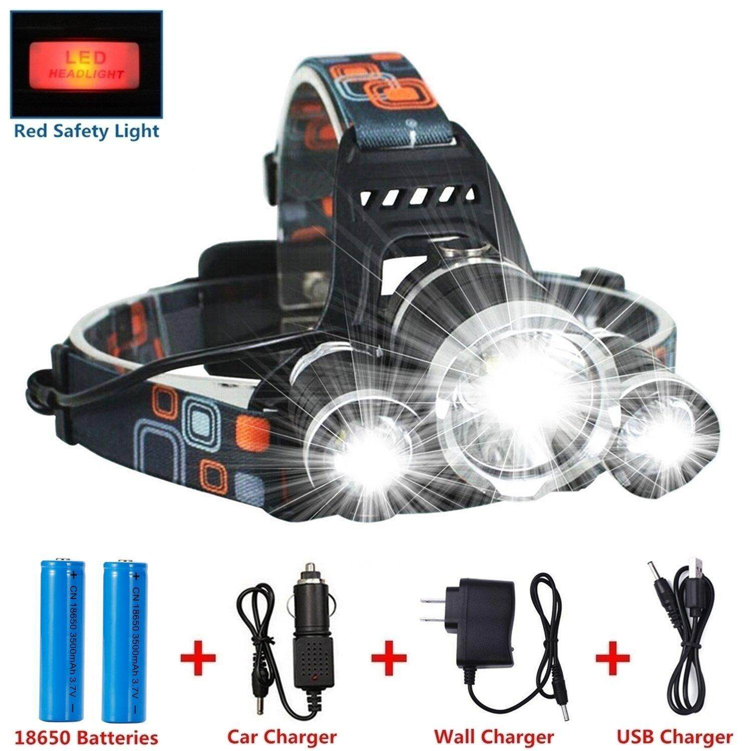 《free Shipping》led Headlamp Flashlight Kit, Annan 8000-Lumen Extreme Bright Headlight With Red Safety Light, 4 Modes, Waterproof, Portable Light For Camping, Biking, 2 Rech 18650 Included By Shenzhen City Fanfanyun Intelligent Technology Co Ltd.